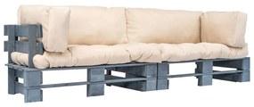vidaXL 2-dielna sedačka z paliet, pieskové podložky, FSC borovica