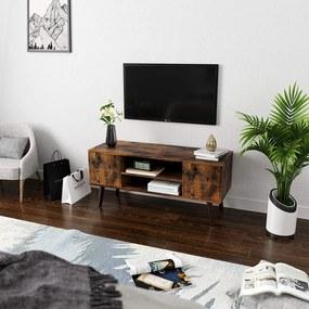 SONGMICS Televízny stolík stojaci retro dizajn 110 cm
