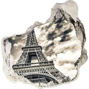 Fototapeta diera na stenu 3D Eiffelova veža Paríž WallHole-75x75-piask-57669652