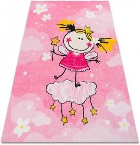 3kraft Detský koberec LITTLE PRINCESS ružový