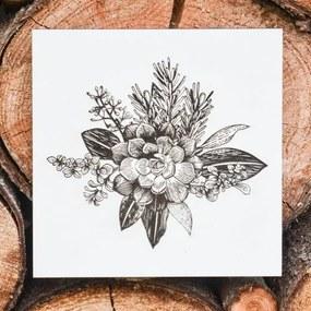 Kvetinový obraz na stenu