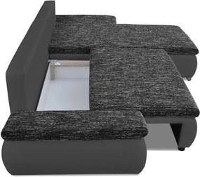Moderní sedací souprava Acero, černá Roh: Orientace rohu Levý roh