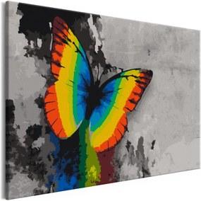 Murando DeLuxe Barevný motýl(60x40 cm)