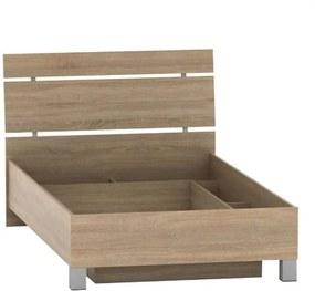 KONDELA Luna 120 jednolôžková posteľ s úložným priestorom dub