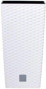 Prosperplast RATO SQUARE Kvetináč 17cm, 7,2l, biela DRTS170