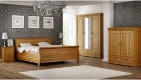 Spálňa Toskania 3D, borovica, masív, (Medový odtieň) TAHOMA
