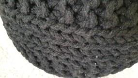 KUDOS Textiles Pvt. Ltd. Sedací vak TEA POUF 36 antra - 40x40x35 cm