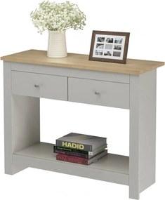 Konzolový stôl Emar, 97 cm, sivá/dub