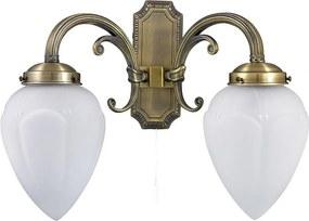 Rábalux Maya 8532 Nástenné Lampy bronz biely E14 2x MAX 40W 360 x 280 mm