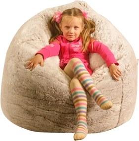 Detský sedací vak Kids XXL s podnožkou - Mikrofáza 20m