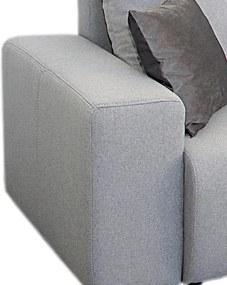 Rohová sedacia súprava Preludium, svetlo šedá látka