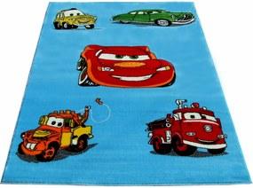 Detský kusový koberec CARS modrý, Velikosti 100x200cm