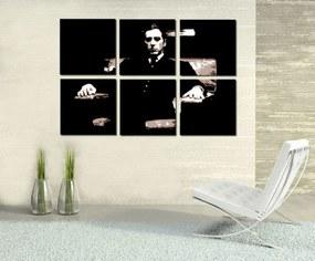 Ručne maľovaný POP Art obraz Godfather 6 dielny  god11