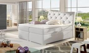 Moderná box spring posteľ Bralin 180x200, biela