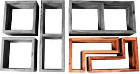 SIT MÖBEL Nástenná polica PANAMA 35 × 20 × 65 cm