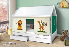 MG Detská posteľ domček Martin 200x90 - biely