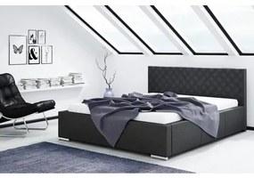 Čalúnená posteľ NEVADA čierna rozmer 180x200 cm