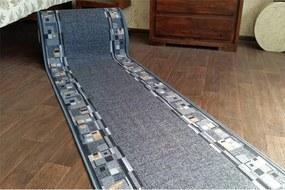 Protišmykový behúň BOMBAY sivý - 67 cm