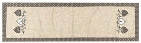 BO-MA Trading Behúň Srdiečka bodka sivá, 40 x 140 cm