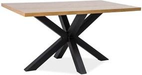 Jedálenský stôl s čiernou oceľovou konštrukciou Signal Cross, dĺžka 150 cm