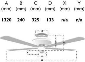 Stropný ventilátor bez svietidla / so svietidlom FANTASIA CLASSIC 110460