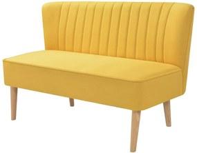244074 Edco Pohovka z textilu, 117x55,5x77 cm, žltá