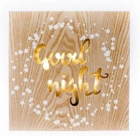 Závesná drevená svietiaca dekorácia Dakls Good Night