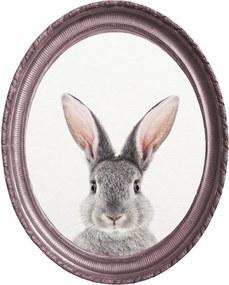 Oválný nástenný obraz v ráme Really Nice Things Rabbit, 40 x 50 cm