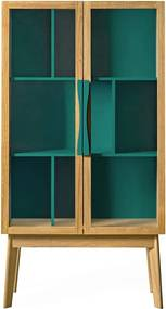 Zelená vitrína Woodman Avon