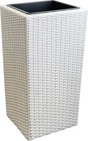 [neu.haus]® Pletený kvetináč - 18x18x33cm - biely