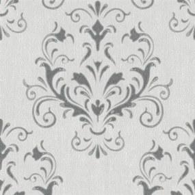 Vliesové tapety na stenu Spotlight 02522-10, zámocký vzor sivý, rozmer 10,05 m x 0,53 m, P+S Interna