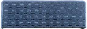Vopi koberce Nášlapy na schody Valencia šedá obdélník - 24x65 půlkruh (rozměr včetně ohybu)