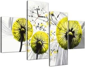 Obraz s hodinami Krásne žlté púpavy 120x80cm ZP4028A_4E