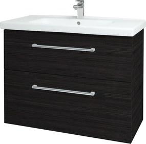 Dřevojas - Koupelnová skříň BIG INN SZZ2 100 - D14 Basalt / Úchytka T03 / D14 Basalt (149444C)