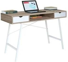 PC stôl 1409 dub/biela