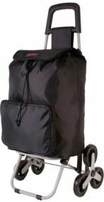 """Čierna nákupná taška do schodov """"Helper"""""""