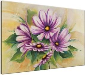 Ručne maľovaný obraz Kvety a zeleň 120x80cm RM1615A_1B