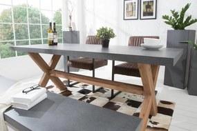 Jedálenský stôl Cement 180cm - akácia