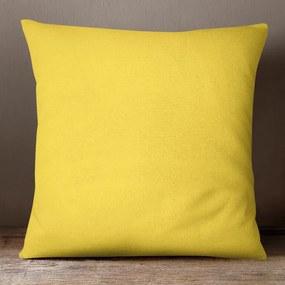 Goldea bavlnená obliečka na vankúš - žltá 70 x 90 cm