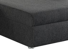 Rohová sedacia súprava Torgau, čierno-sivá tkanina