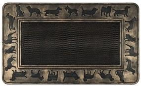 BO-MA Trading Vonkajšia rohožka Psy, 45 x 75 cm