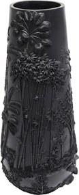 Čierna váza Kare Design Jungle, 83 cm