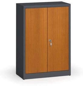 Alfa 3 Zváraná skriňa s lamino dverami, 1150 x 800 x 400 mm, RAL 7016/čerešňa