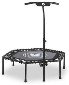 """Jumpanatic fitness trampolína, 44"""" / 112 cm Ø, rukoväť, sklápacia, čierna farba"""