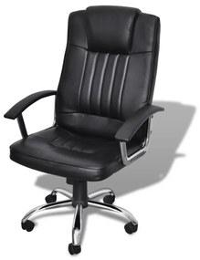 Luxusné kancelárske kreslo s kvalitným dizajnom, čierne 65 x 66 107-117 cm