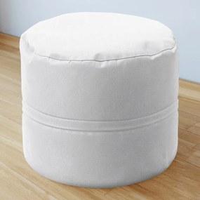 Goldea bavlnený sedacie bobek 50x40 cm - biely 50 x 40 cm