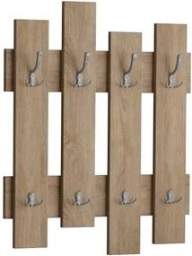 Nástenný vešiak v dekore dubového dreva Wave Oak