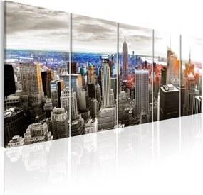 Obraz - New York: Grey Tower Blocks 225x90