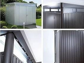 Záhradný domček BIOHORT HighLine DUO H4 275 x 275 (tmavo sivá metalíza)