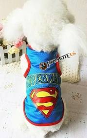 PETOP Tričká pre psov Superman modrá M